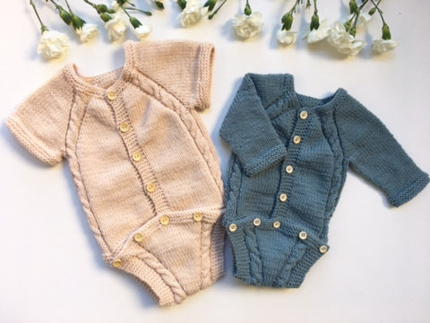 Cable Button Onesie - English