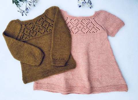 Anselma Sweater and Dress - English