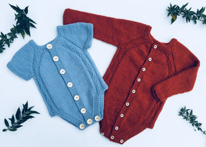 Bruno Button Up Onesie - English