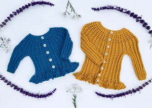 Zinnia Baby Cardigan - English