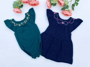 Louisa Baby Dress and Onesie - English