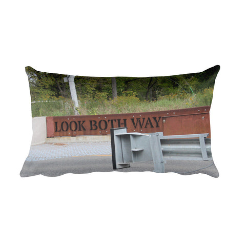 Look Both Ways Rectangular Pillow