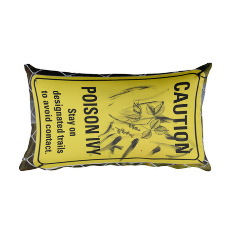 Caution Poison Ivy Rectangular Pillow