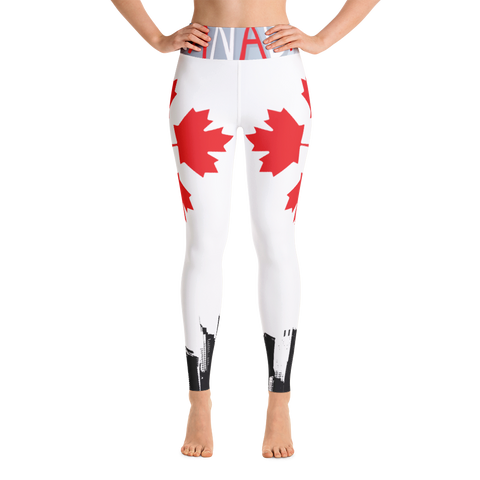 Narcando Canada Quad Leaf Stay Street Yoga Leggings