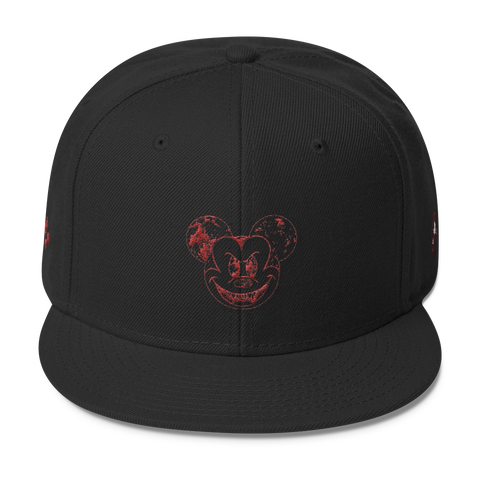 Evil Mickey Mouse Snapback (Red Stitch)