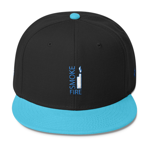 Narcando Canada Smoke Fire Wool Blend Snapback (Blue Stitch)