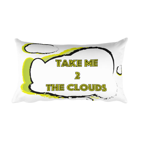 Take Me 2 The Clouds Rectangular Pillow