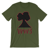 Narcando Canada World War 3 WW3 Unisex short sleeve t-shirt