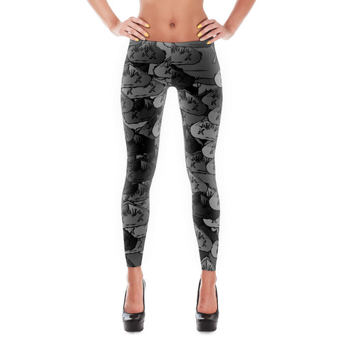 Firstclass4life Greyscale Leggings