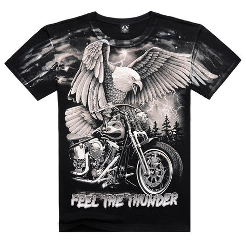 Narcando Canada Feel The Thunder Bikers T-Shirt
