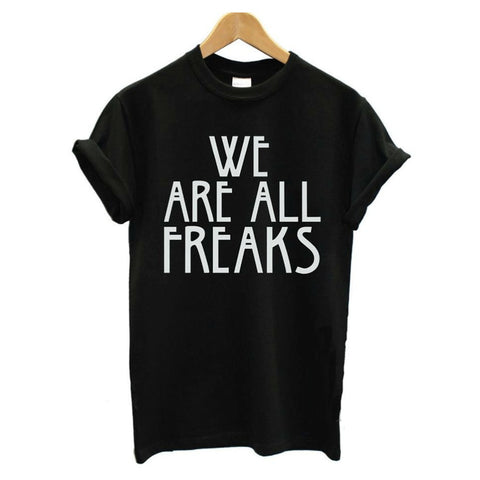 Narcando Canada WE ARE ALL FREAKS Womens T-Shirt