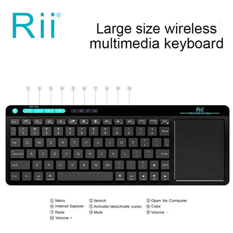 Narcando Wireless Keyboard & Touchpad