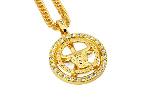 Narcando Canada 24k Gold Chicago Bulls Chain