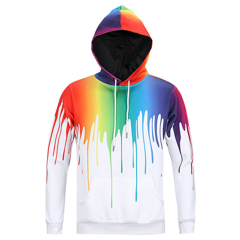 Narcando Canada Rainbow Splash long Sleeve Hoodie