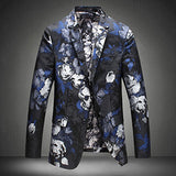 Mens East Punk Floral Blazer 2017 Slim Fit