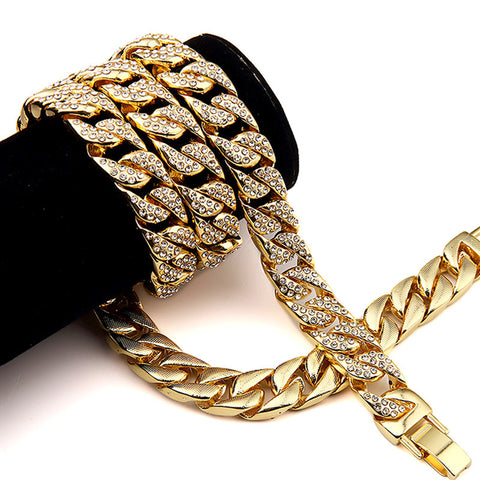 Narcando Canada 24k Gold Cuban Link Chain Necklace