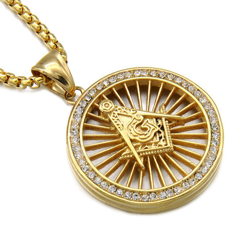Narcando Canada 24k Gold Free Mason Chain Necklace