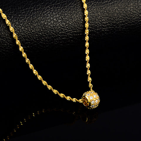 Narcando Canada 24k Gold Charm Necklace