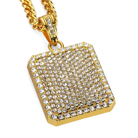 Narcando Canada 18k Gold Ice Rectangle Chain