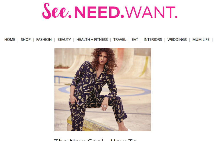 The New Cool on See.Need.Want features the Galaxie Paloma PJ Shirt & Pant