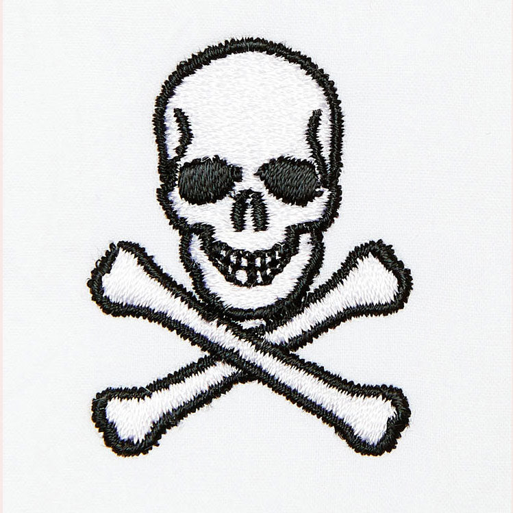Skull and crossbones Monogramming