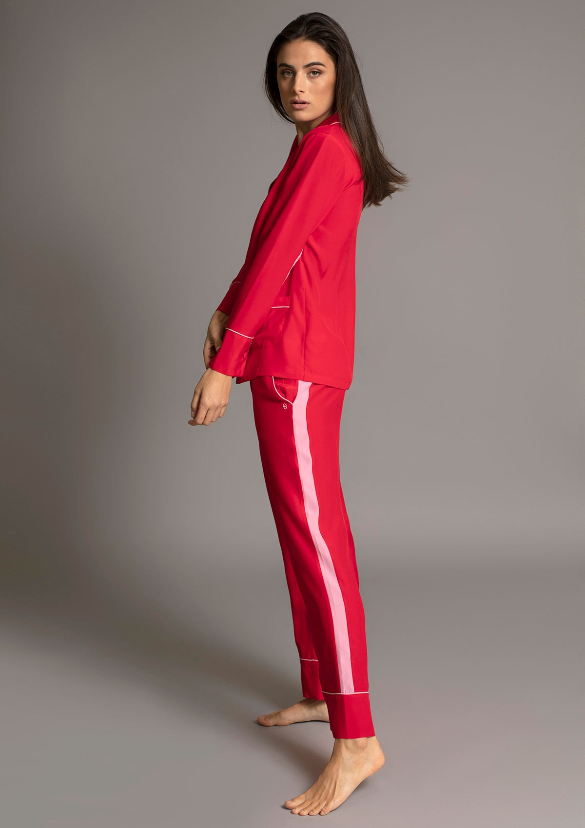 PALOMA PYJAMA SHIRT in ROUGE
