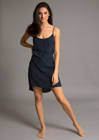 SABINE SLIP DRESS in ATLANTIC