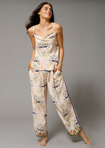 PENELOPE PLEAT PANT in EGYPTIAN GODDESS