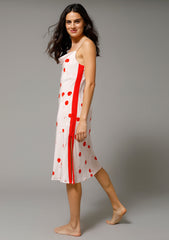 ELVIRA MIDI SLIP DRESS in CHERRY