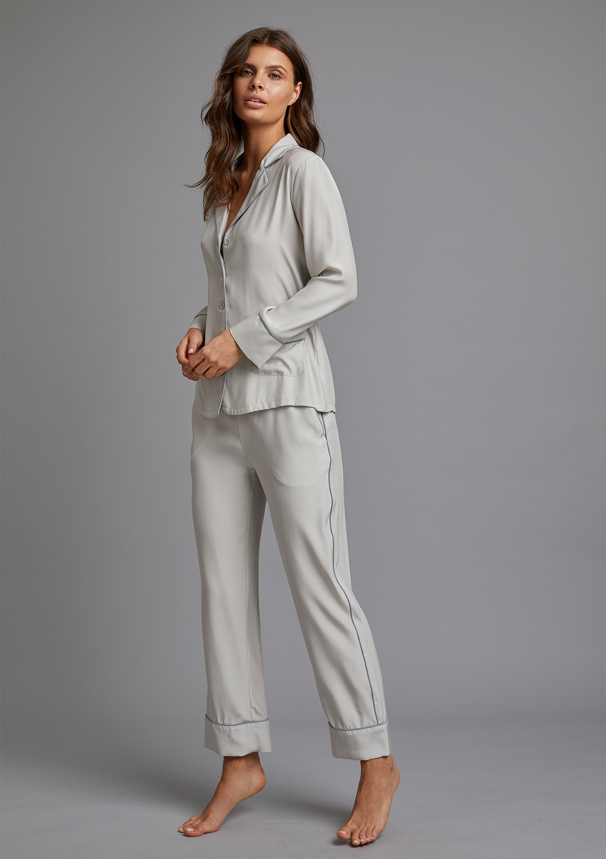 PALOMA PYJAMA SHIRT in MOONLIT