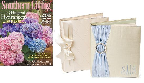 May 2010 Southern Living Our Monogrammed Wedding Albums by Jan Sevadjian