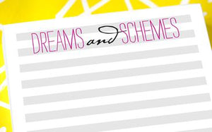 Dreams and Schemes Stripes Notepad