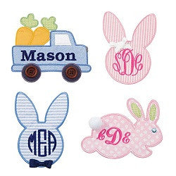 Monogrammed Easter Patches