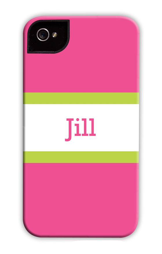 Awning Stripe Raspberry & Green Phone Case