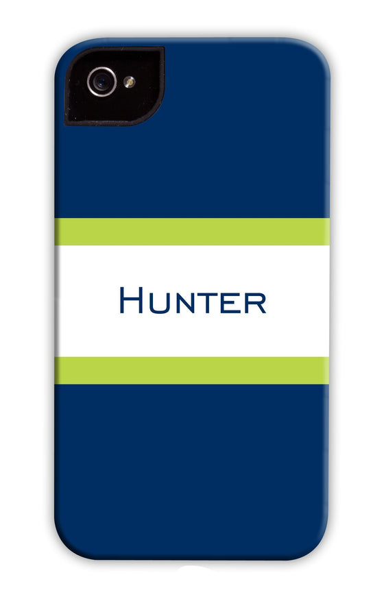 Awning Stripe Navy & Green Phone Case