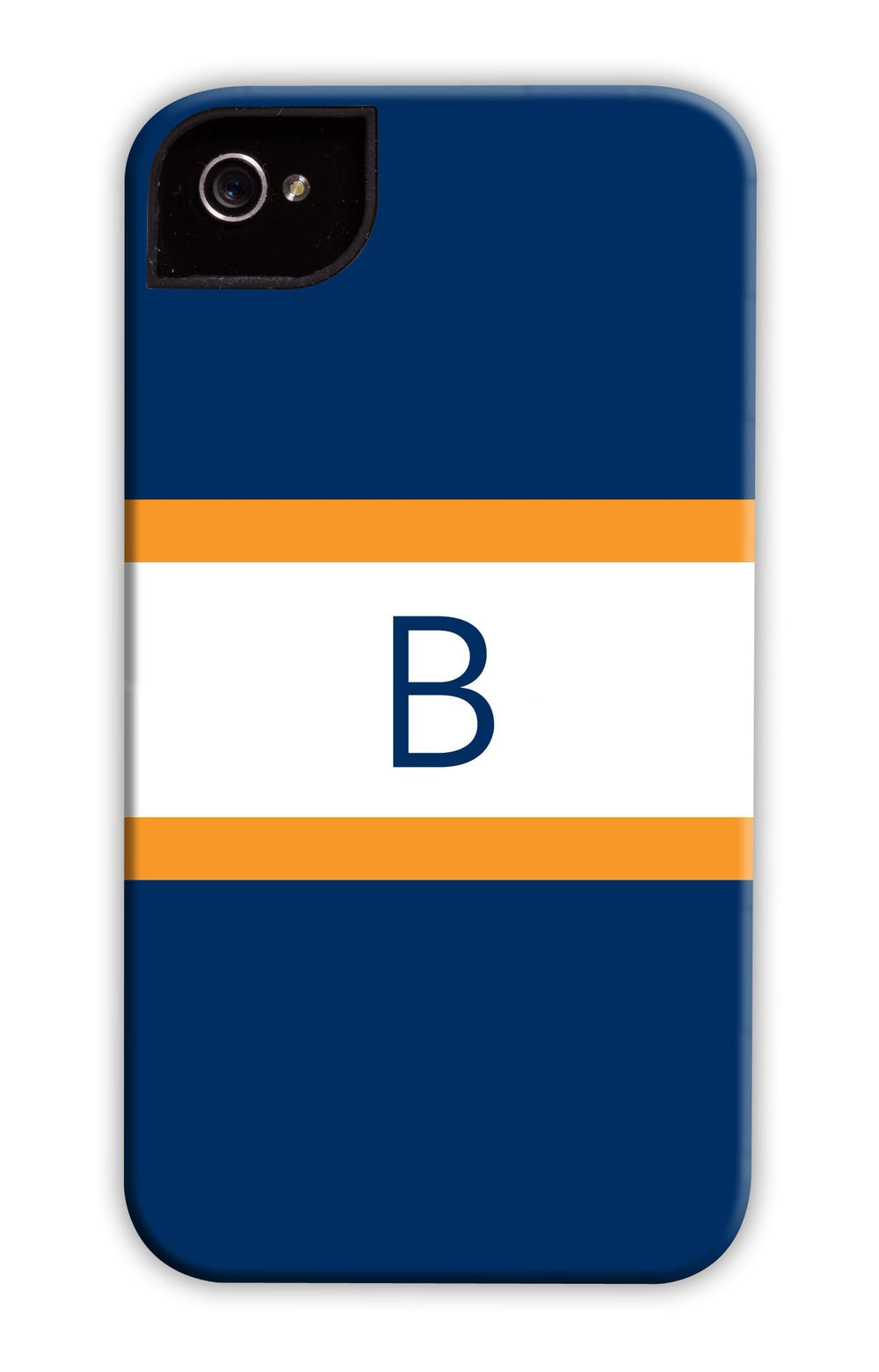Awning Stripe Navy & Orange Phone Case