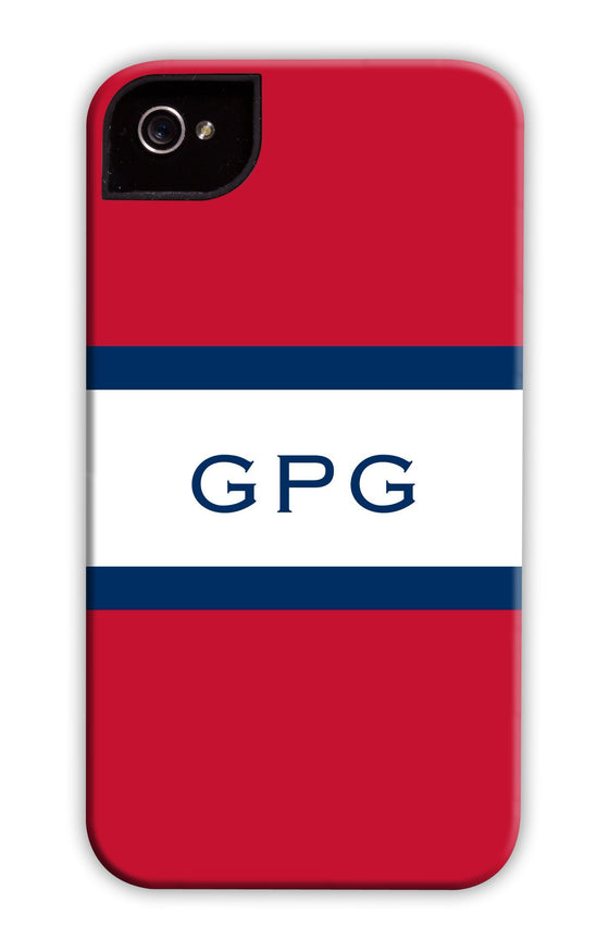 Awning Stripe Red & Navy Phone Case