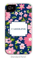 Navy & Pink Floral Phone Case