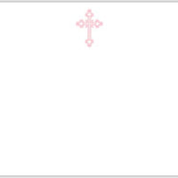 Cross Ornate Flat Notecard