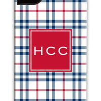 Corporate Tartan Red & Blue Phone Case
