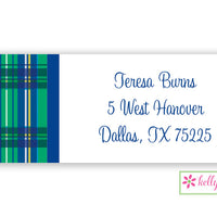 Plaid Modern Address Labels