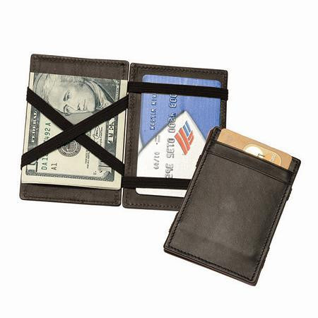 Monogrammed Leather Magic Wallet