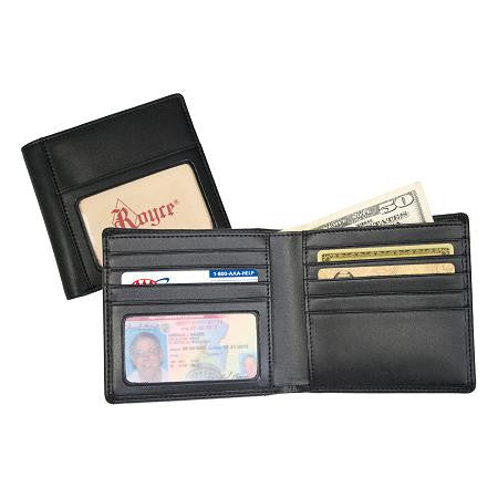 Monogrammed Leather Double ID Hipster Wallet