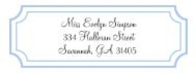 Classic Pale Blue Address Labels
