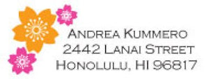 Pink & Orange Blossom Address Label