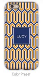 Blaine Navy & Tangerine Phone Case