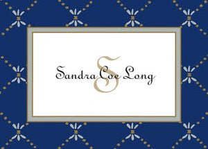 Fleur De Lis Silver & Gold on Navy Gift Enclosure Card