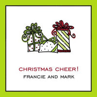 Classic Edge Lime & Black Gift Enclosure Card or Gift Sticker