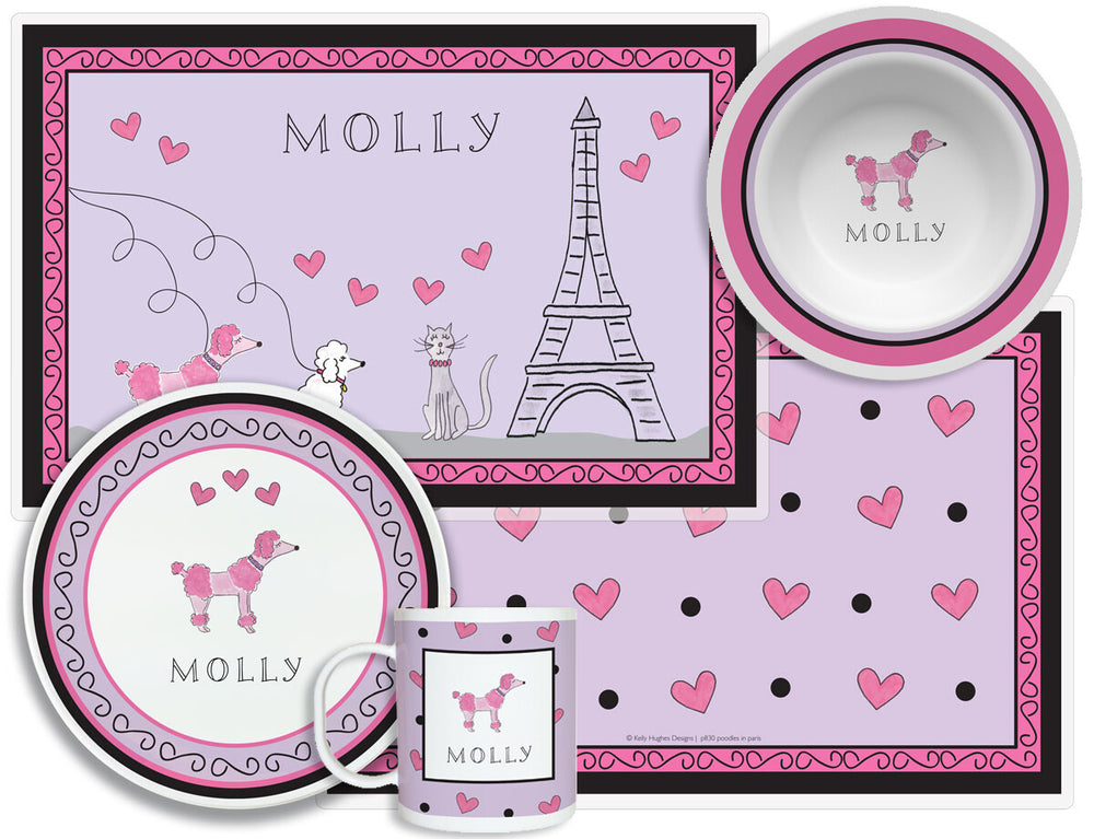 Poodles in Paris Kid's Tabletop Set