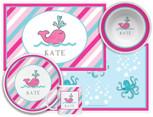 Preppy Whale Kid's Tabletop Set